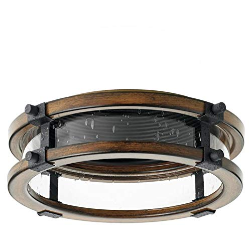 Kichler Barrington Distressed Black and Aged Wood Baffle Recessed Light Trim (Fits Housing Diameter: ()