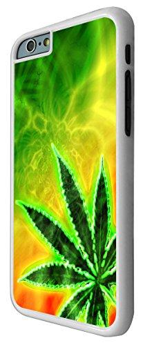 576 - Marijuana Cannabis Leaf Rasta Style Design iphone 6 Plus / iphone 6 Plus 5.5'' Coque Fashion Trend Case Coque Protection Cover plastique et métal - Blanc