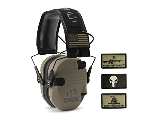 Walker's Razor Patriot Electronic Earmuffs (NRR 23dB) Flat Dark Earth by Walker's Game Ear