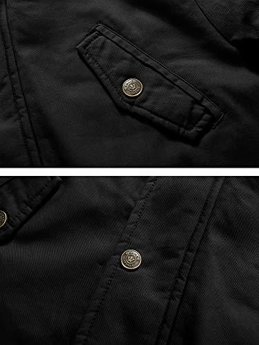 Doublure À Capuche Coupe vent Polaire Blouson En Femme Veste Parka Longue Coupe Hiver Polyvalent Noir Style Avec Wenven Slim Militaire Automne p6IPvqw