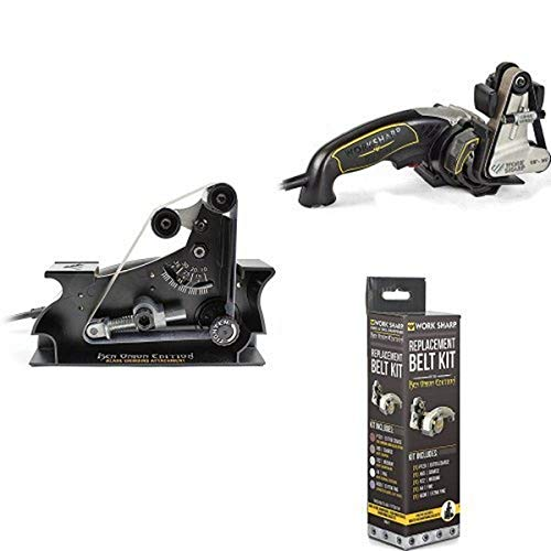Accesorio para amoladora de cuchillas Work Sharp WSSAKO81112 con Work Sharp Ken Onion Edition y kit de cinturón surtido