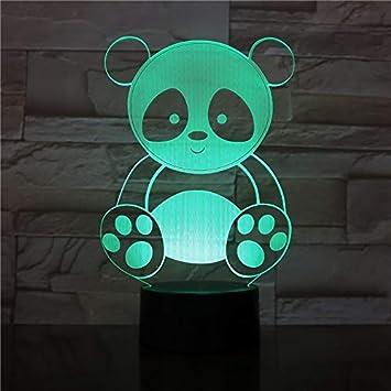 Lindo Panda diseño Noche luz niños Multicolor Dulce Cambio Regalo ...