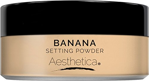 - Aesthetica Banana Loose Setting Powder - Flash Friendly Superior Matte Finish Highlighter & Finishing Powder - Includes Velour Puff