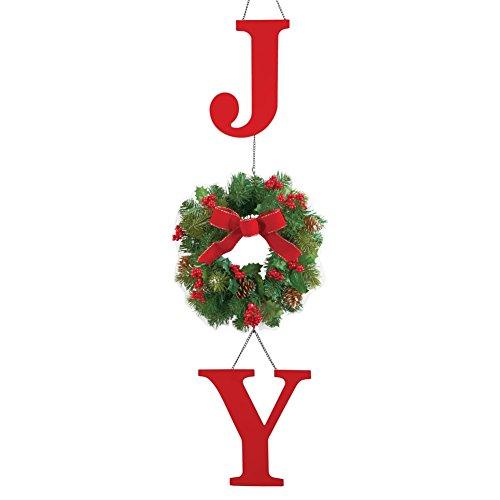 Joy Evergreen Wreath Door Decor