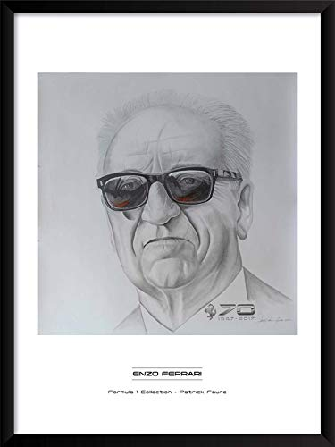 - Artography Limited Enzo Ferrari by Patrick Faure- Framed Formula 1 Racing Portrait Wall Art (19