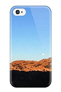 Anti-scratch And Shatterproof Ahhh Artistic Moon Nature Desert Sunset Abstract Artistic Phone Case For Iphone 4/4s/ High Quality Tpu Case