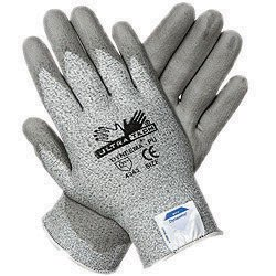 Memphis 9676XS X-Small UltraTech 13 Gauge Cut Resistant Gray Polyurethane Dipped Palm And Finger Coated Work Gloves With Dyneema Liner And Knit Wrist (Ultra Tech Dyneema Gloves)