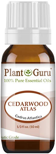 Cedarwood (Atlas) Essential Oil 10 ml 100% Pure Undiluted Therapeutic Grade for Skin, Body and Hair Growth. Great for Aromatherapy Diffuser and DIY Soap Making