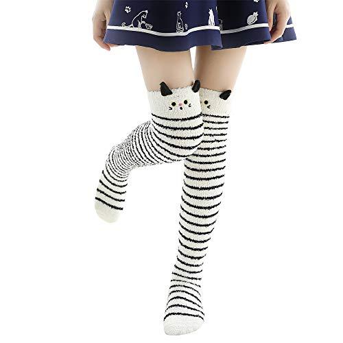 URIBAKE Women's Socks Thick Heavy Winter Thermal Cute Fuzzy Floor Novelty Sock