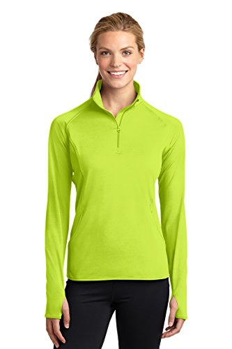 - Sport-Tek 174 Ladies Sport-Wick 174 Stretch 1/2-Zip Pullover. LST850 Large Charge Green