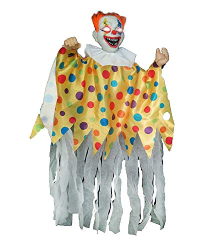 Sunstar Animated Scary Clown Hanging Halloween Decoration 36 in]()