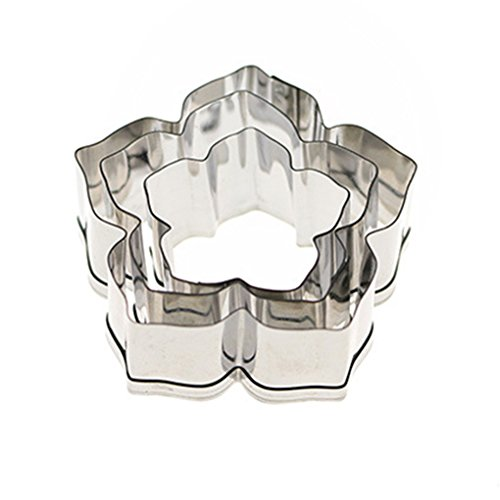Kitchen Baking Tools - 3pcs Petunia Flower Cookie Pastry Cake Cutter Stainless Steel Biscuit Mold Home Baking - Annual Leaves Hyacinth Flowers Petunia Liesl Yhnoo Superbell Lithops Cascadias