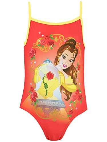 Disney Beauty & the Beast Girls' Beauty and the Beast Swimsuit Size 6 (Disney Swimsuit One Piece)