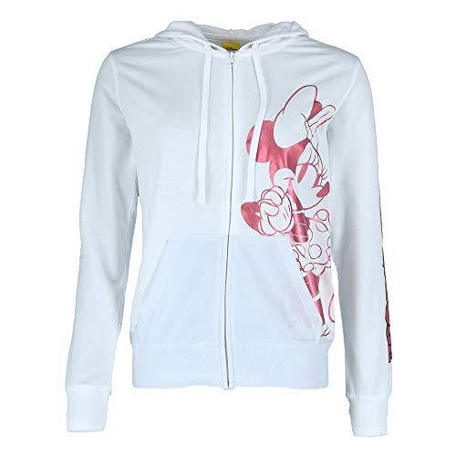 Disney Junior Zip Up Hoodie Hey There Minnie Pink White Medium]()