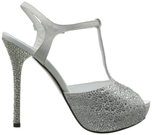 Pleaser Day & Night - zapatos de tacón mujer, color blanco, talla 37.5 (5 UK)