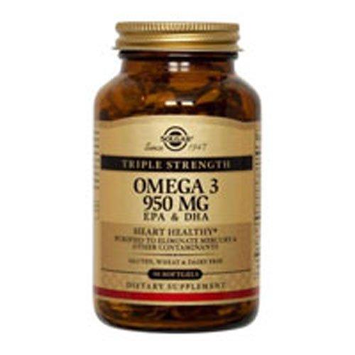 Solgar Omega 3 950 100 Softgels/bottle - 6 Bottles