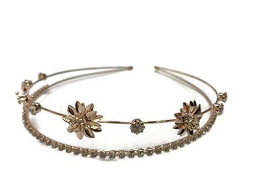 2 Layer Gold Silver Headband :SP3 (2LGFW)