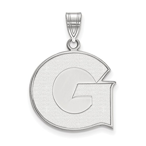 Jewelry Stores Network Georgetown University Hoyas School Letter Logo Pendant in Sterling Silver L - (20 mm x 20 mm)