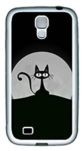 Samsung Galaxy S4 Case TPU Customized Unique Print Design Moon Cat Case Cover For Samsung Galaxy S4