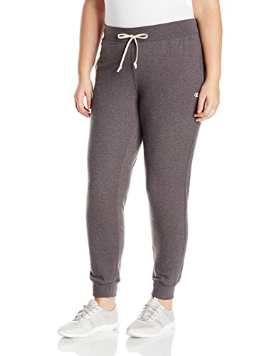 Champion Women's Plus-Size French Terry Jogger, Granite Heather, 3X