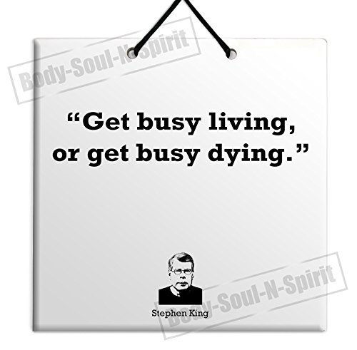 Stephen King - Buy Quote Ceramic Wall Hanging Art Sign Plaque TILE Home Gift
