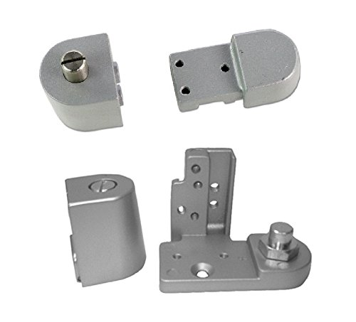 Kawneer Style TOP & Bottom Pivot Hinge Set for Commercial Adams Rite Type Storefront Door, Choose Handing & Finish (Left Hand in Aluminum)