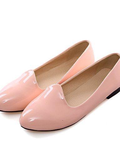 Punta Donna Piatto almond Scarpe gyht Pink Finta pelle arrotondata Casual Bianco Rosa Mocassini ShangYi Nero Tessuto XS4Eqw