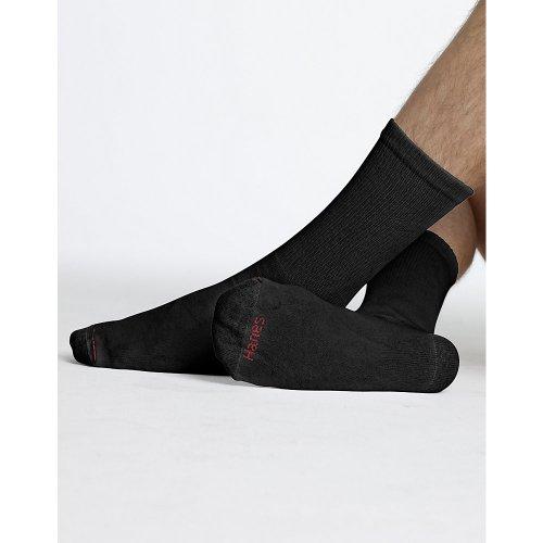 Hanes Classics Men's White Crew Socks 20-Pack_Black_10-13
