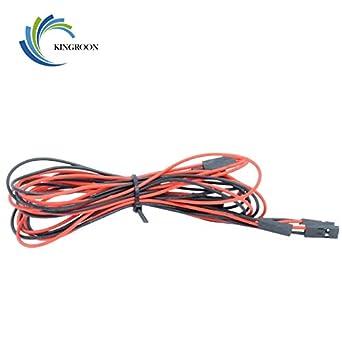 Cable para impresora 3D, 5 unidades, 70 cm, 2 pines, hembra ...