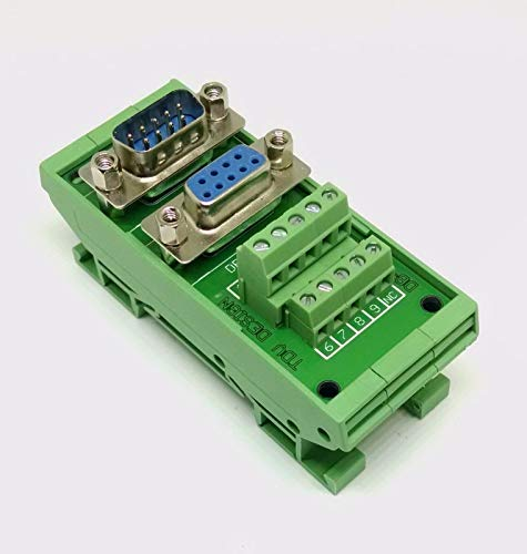 Perfect New DB9 D Sub Din Rail Mount Breakout Board Male/Female Connectors from IA_TOM