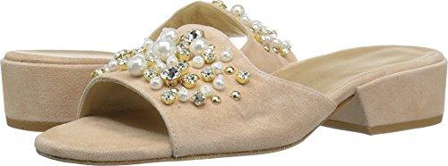 Stuart Weitzman Women's Decorslide Slide Sandal, Bisque, 8 Medium (Pearl Bisque)