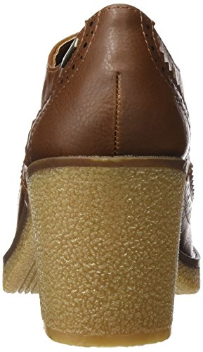 Para crax Moka Cuero 51816 Punta Tacón Marrón Con De Cerrada Zapatos Mujer Mtng vPnOq0P