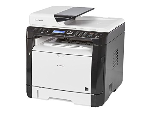 Ricoh 407983 SP 325SFNw Fax/Copier/Printer/Scanner, Black/white (Super G3 Fax Machine)