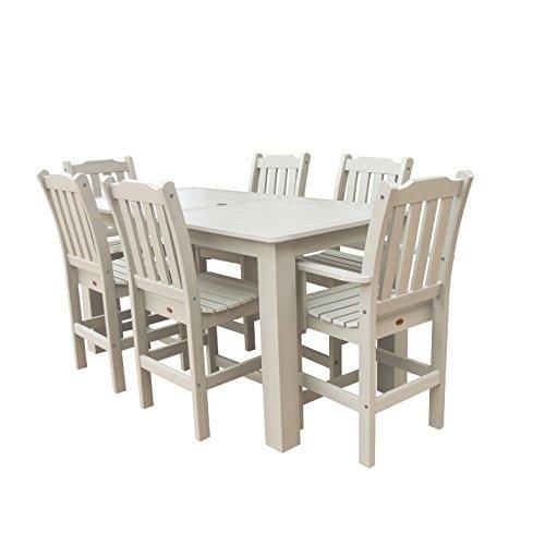 Highwood 7-Piece Lehigh Rectangular Counter Height Dining Set, Whitewash