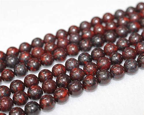 Wholesale Natural Red Brecciated Jasper Beads,4mm 6mm 8mm 10mm12mm Red Brecciated Jasper Smooth and Round Beads.Red Brecciated Jasper.Wholesale Beads. (8mm,47pcs)