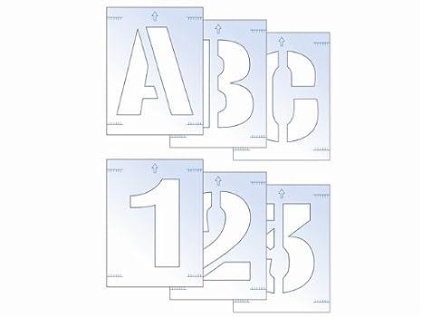 Scan Kit Stencil Lettere E Numeri 25 Mm Amazonit Commercio