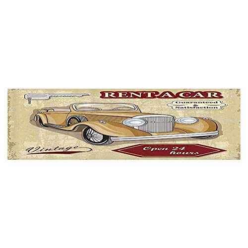 Leigh R. Avans Background Fish Tank Sticker Vintage Car Rentals Commercial with Keys Original Dated Objec Aquarium Sticker Wallpaper Decoration 35.4
