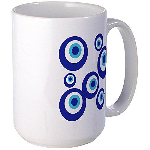 CafePress - Mod Evil Eyes Large Mug - Coffee Mug, Large 15 oz. White Coffee Cup