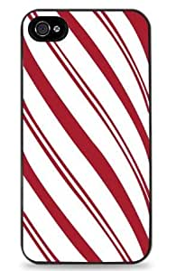 Candy Cane Stripes for iPhone 4 / 4S Hard Case- Black - 521