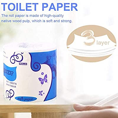 Toilet Paper Soft Strong Toilet Tissue Cotton Roll Paper Household Towel Tissue Silky & Smooth Soft Professional Series Premium 3-Ply Toilet Paper Home Kitchen Toilet Tissue: Kitchen & Dining