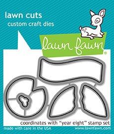 Lawn Fawn Lawn Cuts Custom Craft Die LF1606 Year Eight