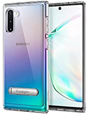 Spigen Crystal Clear Case for Samsung Galaxy Note 10 Plus with Silver Fram and Back Stand - Silver