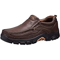 CAMEL CROWN Mens Loafers Slip-On Loafer Leather Casual Walking Shoes Comfortable for Work Office Dress Outdoor