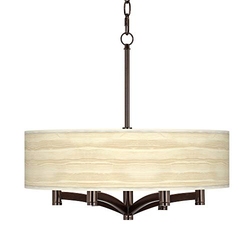 Birch Blonde Ava 6-Light Bronze Pendant Chandelier - Giclee Glow]()