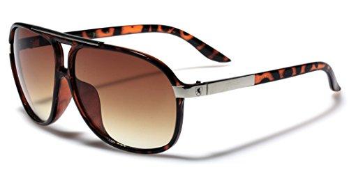 [Men's Women's Retro Vintage 80s Classic Fashion Designer Aviator Sunglasses Tortoise] (80s Male Fashion)
