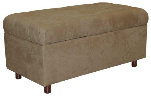 Belden Tufted Storage Bench by Skyline Furniture in Khaki (Custom Storage Bench)