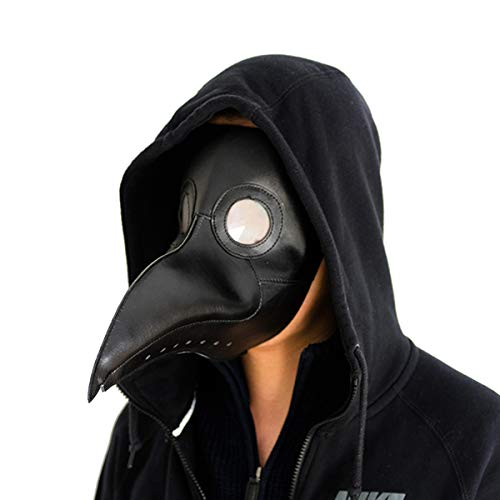 Steampunk Halloween Cosplay Costume Props For Party Long Nose Bird Beak Mask ThinkTop Plague Doctor Mask Grey