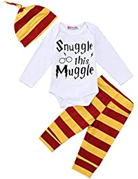 Baby Boys Girls Snuggle This Muggle Bodysuit Romper and...