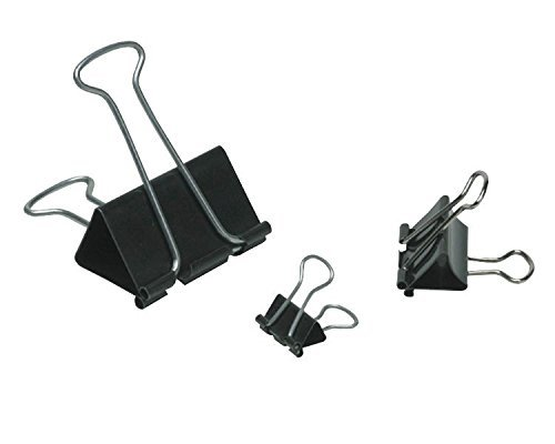 OfficeMax Heavy-Duty Black Binder Clips, Large, 48 ct.