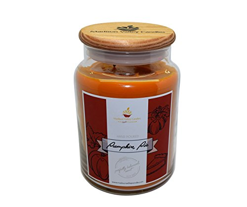Strong Scented Pumpkin Pie Soy Candle 26oz By Madison Valley Soy Candle Company